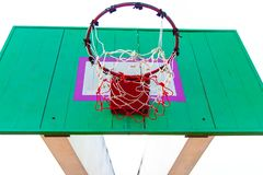 Wooden basketball hoop Royalty Free Stock Photography