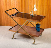 Wooden and bass cart Stock Images