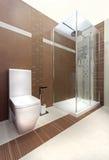 Wooden bathroom Stock Image