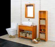 Wooden bathroom Stock Photography