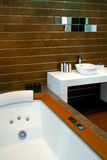Wooden bathtub Royalty Free Stock Photo