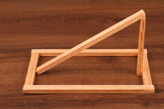 The Wooden  Batten Square Scantling on the wood Stock Image
