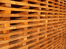Wooden battens Stock Photo