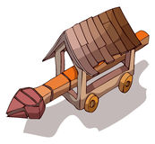 Wooden Battering Ram Vector Illustration. Royalty Free Stock Images