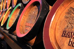 Wooden bavaria beer barrels Stock Image
