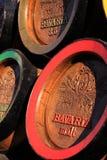 Wooden bavaria beer barrels Royalty Free Stock Photos
