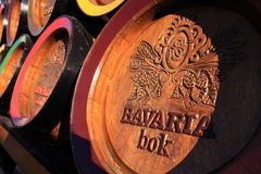 Wooden bavaria beer barrels Royalty Free Stock Image