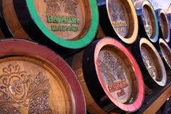 Wooden bavaria beer barrels royalty free stock image