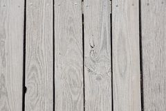 Wooden beach boardwalk with sand for background or texture. stock images