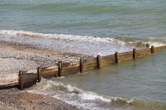 Wooden Beach Defence. Royalty Free Stock Image