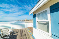 Free Wooden Beach House In San Diego Royalty Free Stock Photography - 89802747