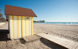 Wooden beach hut Stock Image