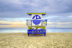 Wooden beach hut in Art deco style Stock Photography