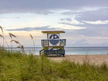 Wooden beach hut in Art deco style Royalty Free Stock Image