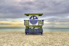 Wooden beach hut in Art deco style Royalty Free Stock Photos