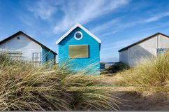 Wooden Beach Huts Royalty Free Stock Images