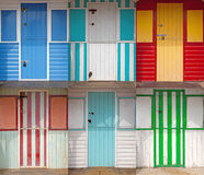 Wooden Beach huts royalty free stock photos