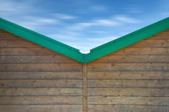 Wooden Beach Huts: desire of sea Stock Images