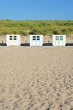 Wooden beach huts Stock Photos