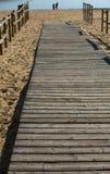 Wooden beach path Stock Photo