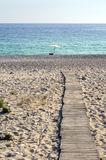 Wooden beach pathway Stock Photography