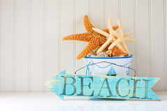 Free Wooden Beach Sign Royalty Free Stock Images - 10017079