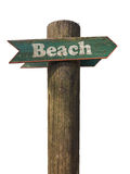 Wooden Beach Sign Stock Photos