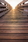 Wooden beach walkway Royalty Free Stock Photography