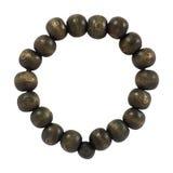 Wooden bead bracelets on white Royalty Free Stock Image