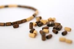 Wooden bead bracelets. On white background. Macro photo shot jewelry Stock Images