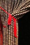 Wooden bead door screen Royalty Free Stock Images
