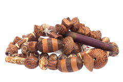 Wooden bead necklace Royalty Free Stock Photos