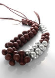 Wooden bead necklace Royalty Free Stock Images