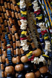 Wooden Beads. A Close Up of Hanging Wooden Beads Stock Images