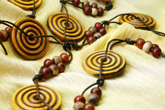Wooden beads Royalty Free Stock Image