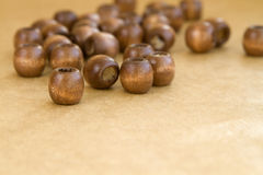 Wooden beads Royalty Free Stock Photo