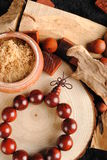 Wooden Beads. A wooden Beads made ​​in India Stock Images