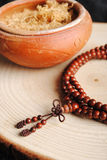 Wooden Beads. A wooden Beads made ​​in India Royalty Free Stock Image