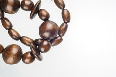 Wooden Beads Necklace Stock Photography