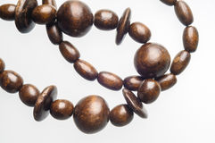 Wooden beads Necklace Royalty Free Stock Images