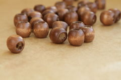 Wooden beads separately Stock Photos