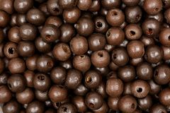 Wooden beads. Texture. Stock Photo