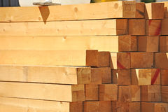 Wooden beam royalty free stock photos