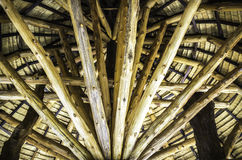 Wooden beam structure Stock Photography