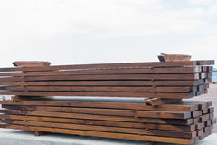 Wooden beams Royalty Free Stock Image