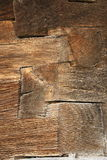 Wooden beams on old wall Stock Image