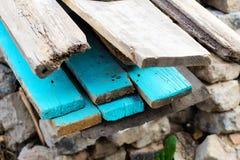 Wooden beams. Stock Photos