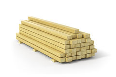 Wooden beams and planks. Stock Photos