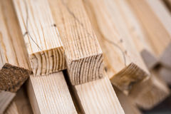 Wooden beams and planks Royalty Free Stock Photos