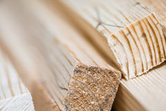 Wooden beams and planks Royalty Free Stock Photo